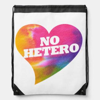 No Hetero Drawstring Backpack