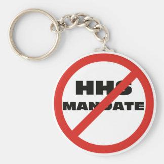 No HHS Mandate Basic Round Button Keychain