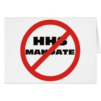 No HHS Mandate Card