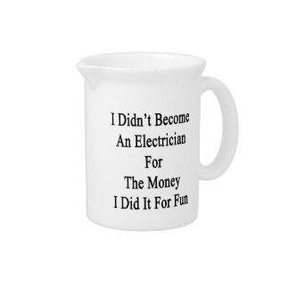 No hice electricista para el dinero que lo hice