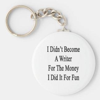 No hice escritor para el dinero que lo hice las FO Llavero