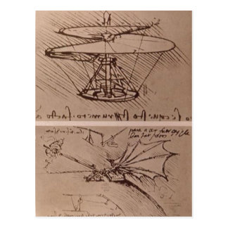 No higher resolution available. Leonardo_da_Vinci_ Postcard