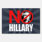 NO HILLARY BOLD - Anti Hillary png white - .png Lawn Sign
