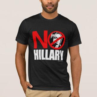 NO HILLARY BOLD - Anti Hillary png white - .png T-Shirt