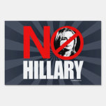 NO HILLARY BOLD - Anti Hillary png white - .png Lawn Signs