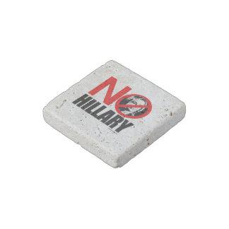 NO HILLARY STONE MAGNET