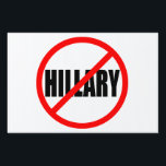 """NO HILLARY"" (single-sided) Sign<br><div class=""desc"">""NO HILLARY"" YARD SIGN</div>"