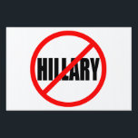 """NO HILLARY"" (single-sided) Sign<br><div class=""desc"">""NO HILLARY"" YARD SIGN</div>"
