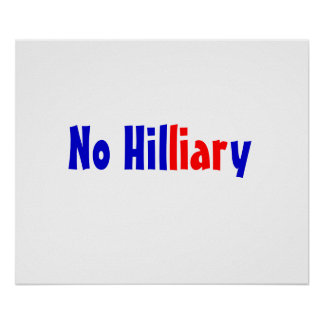 No Hilliary poster