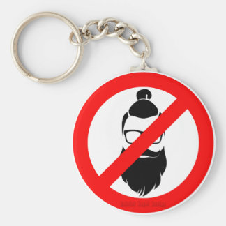 No Hipsters or Man Buns Basic Round Button Keychain