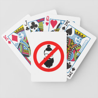 No Hipsters or Man Buns Bicycle Playing Cards