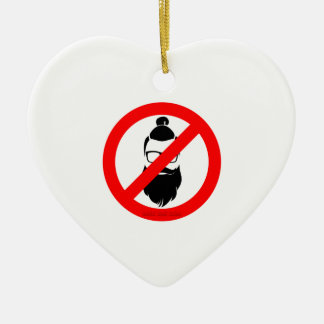 No Hipsters or Man Buns Ceramic Ornament