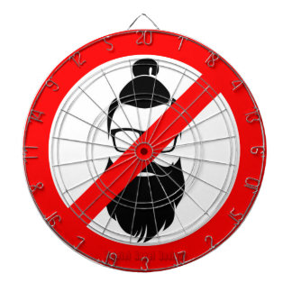 No Hipsters or Man Buns Dart Boards