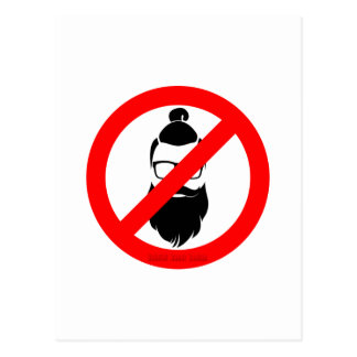 No Hipsters or Man Buns Postcard