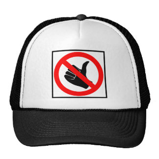 No Hitchhiking Highway Sign Trucker Hats