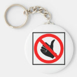 No Hitchhiking Highway Sign Keychain