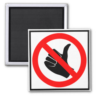 No Hitchhiking Highway Sign Magnet