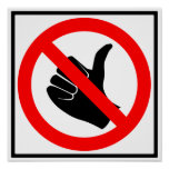 No Hitchhiking Highway Sign Poster