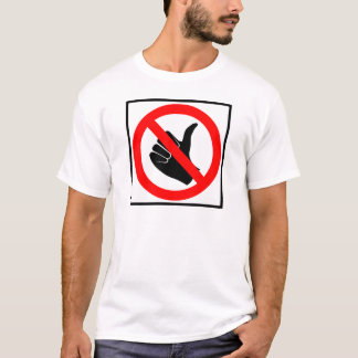 No Hitchhiking Highway Sign T-Shirt