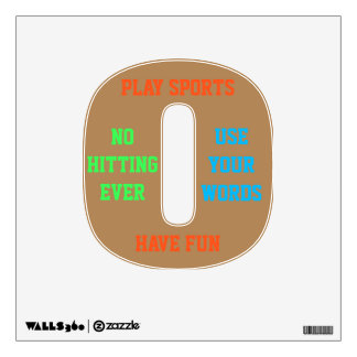 NO HITTING - EVER- USE YOUR WORDS Boys' Wall Decal