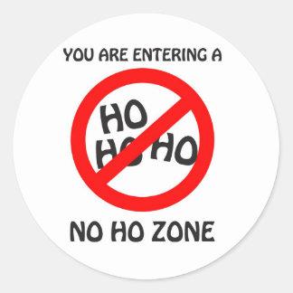 no ho zone classic round sticker