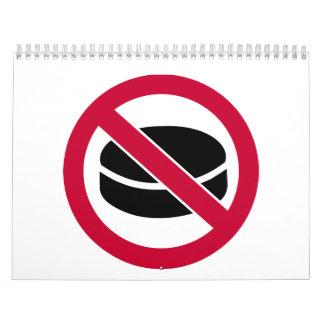 No hockey puck calendar