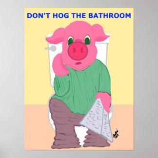 No hog el poster del cuarto de baño póster