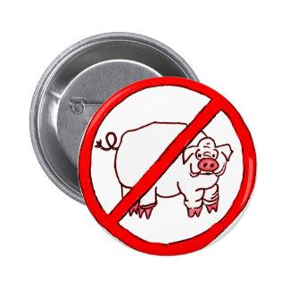 No Hogs Circle Pinback Button