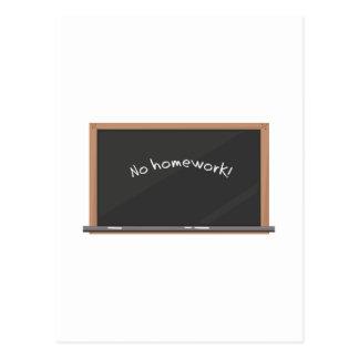 No Homework Postcard