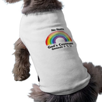 No Homo God's Covenant - Pet T-Shirt