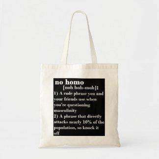 No Homo Tote Bag