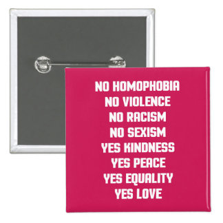 No Homophobia Quote Button