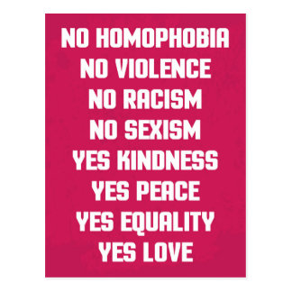 No Homophobia Quote Postcard