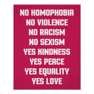 No Homophobia Quote Poster