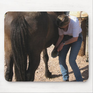 No Hoof, No Horse - Cowgirl Chores - Farrier Work Mouse Pad