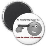 No Hope Emoticon Logo 2 Inch Round Magnet