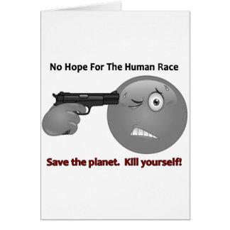 No Hope Emoticon Logo Card
