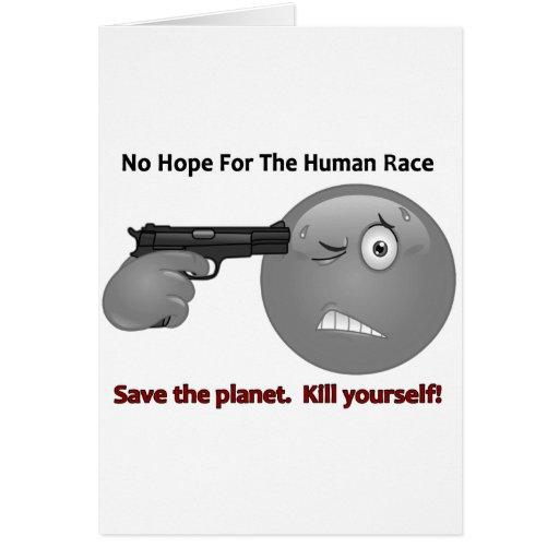 No Hope Emoticon Logo Greeting Card