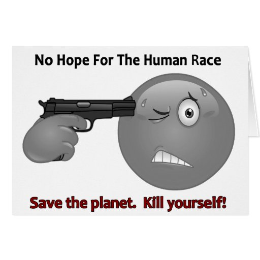 No Hope Emoticon Logo Greeting Card