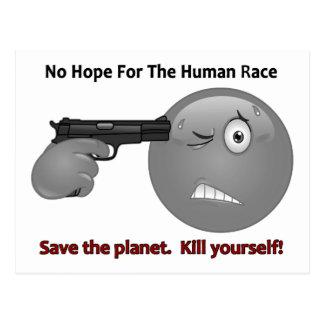 No Hope Emoticon Logo Postcard