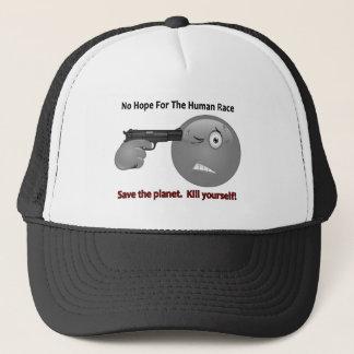 No Hope Emoticon Logo Trucker Hat