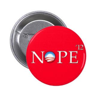 No Hope For Obama 2012 Button