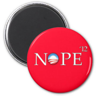 No Hope For Obama 2012 Button 2 Inch Round Magnet