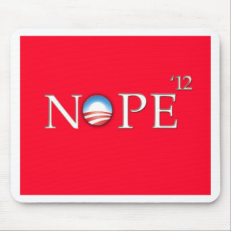 No Hope For Obama 2012 Button Mouse Pad