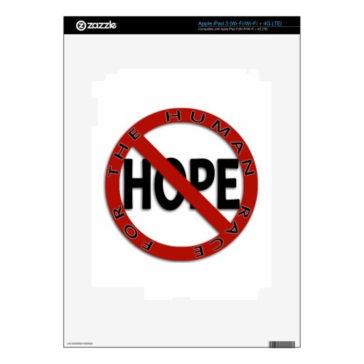 No Hope Sign Decals For iPad 3