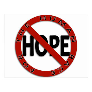 No Hope Sign Logo Postcard