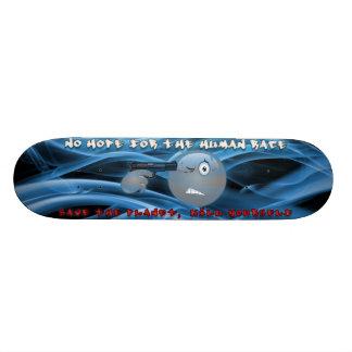 No Hope Smoky Blue Design Skateboard Deck
