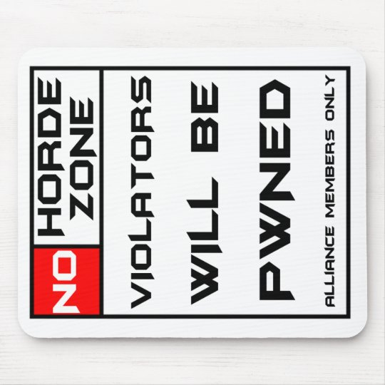 No horde zone mouse pad
