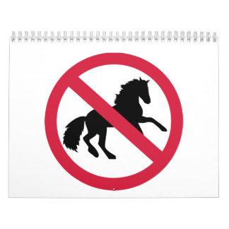 No horses calendar