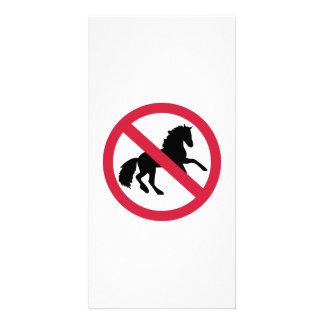 No horses photo card